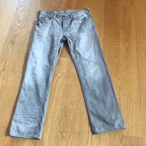 American Eagle grey Slim Straight Jeans